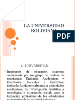 1.- La Universidad en Bolivia