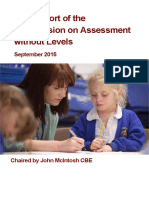 commission on assessment without levels - report