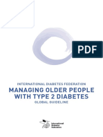 IDF Guideline for Older People T2D