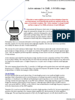 Active Antenna 1-30 MHz