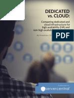 Cloud vs. Dedicated Hosting White Paper