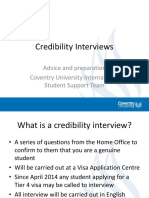Credibility Interviews Presentation