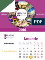 Calendar Evenimente Creative Bright 2016