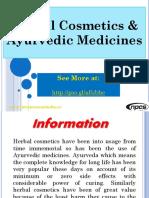Herbal Cosmetics & Ayurvedic Medicines