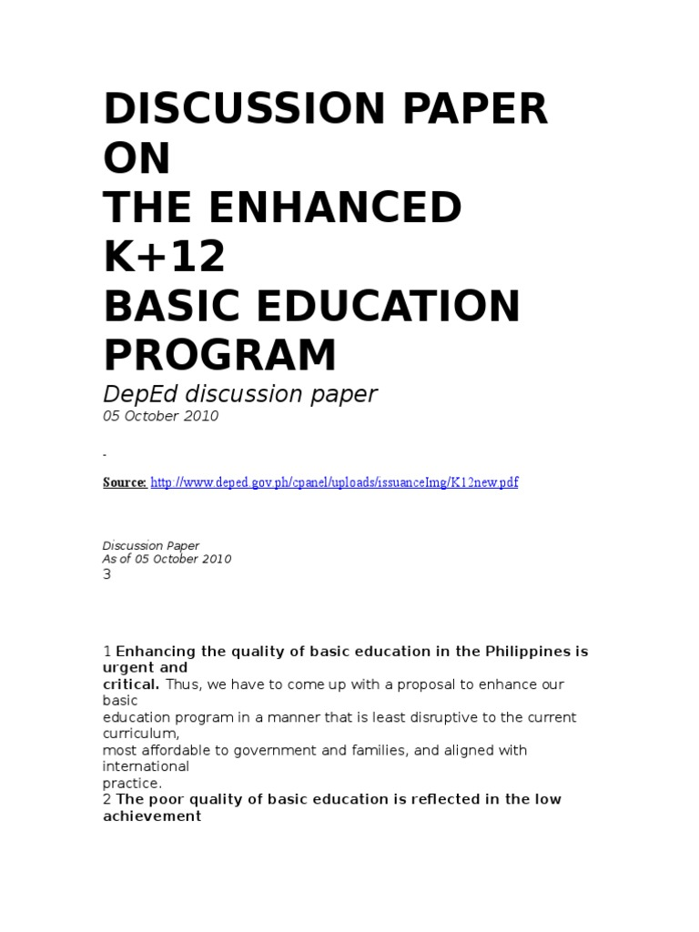 K to 12 thesis sample