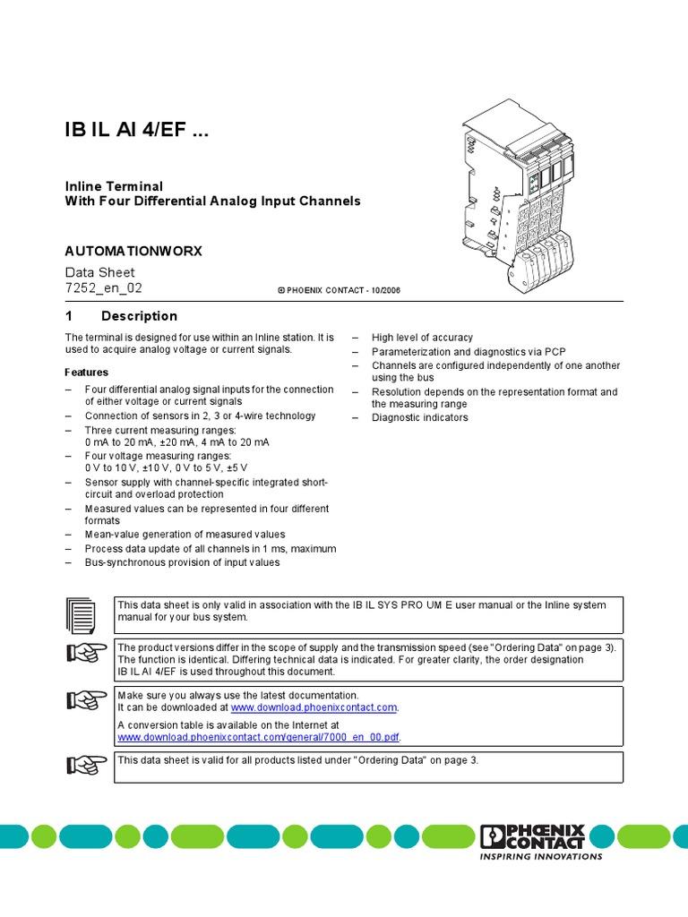 Phoenix Contact Plc Analog Input Wiring Diagram