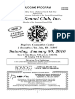 Saturday judging program for the American Kennel Club All-Breed Conformation and Obedience Show in Erie on Jan. 30
