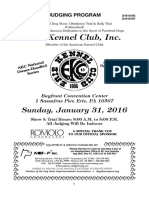 Sunday judging program for the American Kennel Club All-Breed Conformation and Obedience Show in Erie on Jan. 31