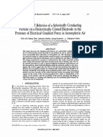 Charging and Behavior of a Spherically Conducting Particle on a Dielectrically Coated Electrode in the Presence of Electrical Gradient Force in Atmospheric Air