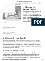 How to Estimate Drywall Materials