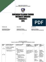 Scheme of Work Add Maths T5 2016