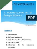 Imperfecciones Puntuales y Lineales