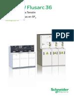 Catalogo Distribución en Media Tensión Celdas RM6 24 - Flusarc 36 de Schneider