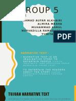 Presentasi Narrative Text Bahasa Inggris