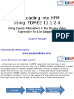 Oracle  Data Loading Into HFM by FDMEE Part III
