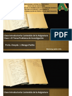 Clase 1 Proyecto Investigación 2015