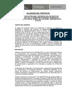 Alcances Del Proyecto - Estudio de Factibilidad Carretera