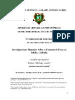Investigación de Mercados Sobre El Consumo de Fresa en Saltillo, Coahuila.