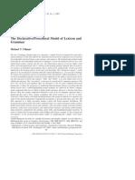 The Declarative/Procedural Model of Lexicon and Grammar