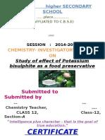 Chem Project class 12 cbse