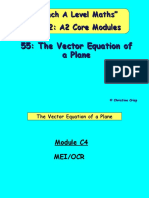 55 the Vector Equation of a Plane