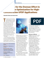Accounting for the Donnan Effect in Diafiltration Optimization for High Concentration UFDF Applications