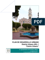 1 Plan de Desarrollo Urbano Centro Urbano PDU Distrito ARL 1, V. Final 2012 09 07