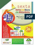 Publicacion 6ta Feria Del Libro de Atlántida