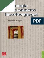 Werner Jaeger - La Teología de Los Primeros Filósofos Griegos