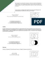 Diagramas de Venn Son Esquemas Usados en La Teoría de Conjuntos