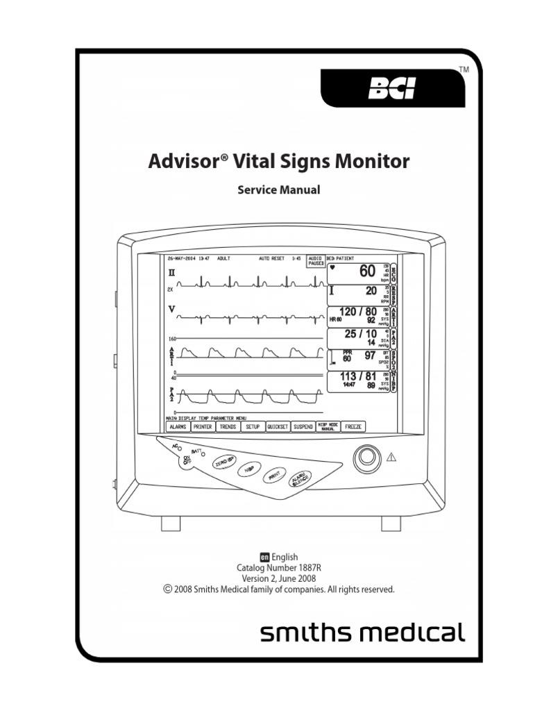 monitor bci advisor service manual artificial cardiac pacemaker rh pt scribd com Access Door Hardware Window Repair Manual