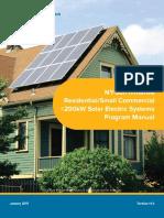 NY SUN Residental SC Solar Program Manual 2016