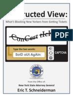 Schneiderman Ticket Sales Report
