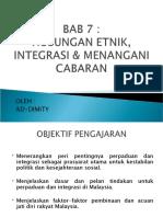 Bab7 - Integrasi & Menangani Cabaran