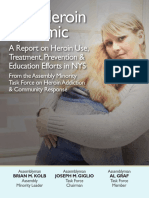 The Heroin Epidemic – a Report on Heroin Use, Treatment, Prevention & Education Efforts in NYS