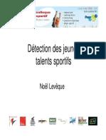 Détection Des Jeunes Talents Sportifs