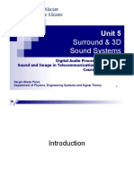 Unit 5 - Surround and 3D Sound Systems