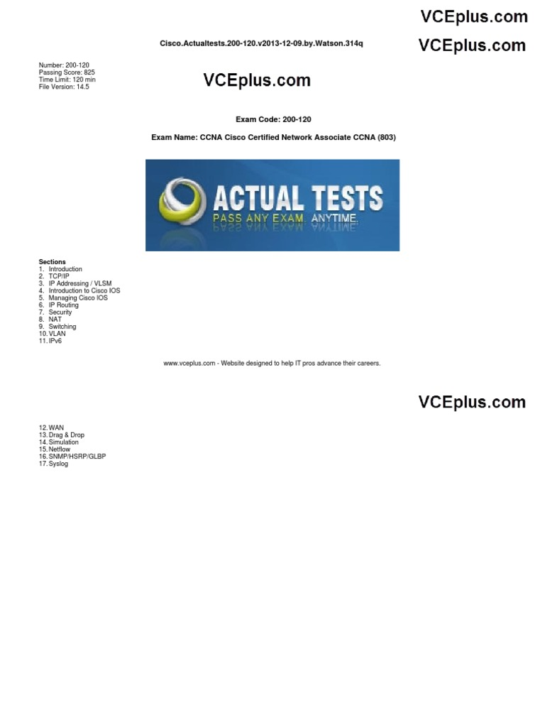 Ciscoactualtests200 120v20131210bywatson Network Switch Voltagecontrolled Lowpass Filter Circuit Diagram Tradeoficcom Osi Model