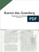 Buenos Días Gutenberg