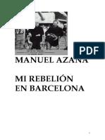 Azaña Manuel - Mi Rebelion en Barcelona