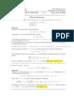 Corrección Primer Parcial de Cálculo III, 28 de enero de 2015.