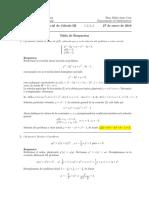 Corrección Primer Parcial de Cálculo III, 27 de enero de 2015.
