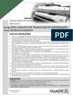 Quadrix 2012 Cfp Analista de Tecnologia Da Informacao Desenvolvimento Prova
