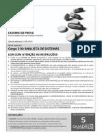 Quadrix 2013 Crf Sp Analista de Sistemas Prova