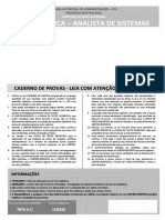 Quadrix 2015 Cfa Analista de Sistemas Informatica Prova