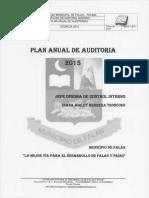Plan Anual de Auditoria 2015