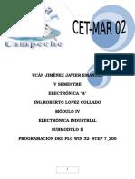 PLC WIN 32 S7 Ucan Jimenez Reporte