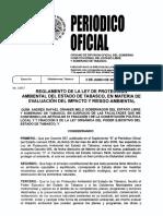 Reglamento LPAET en Impacto y Riesgo Ambiental