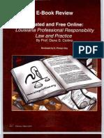 E. Phelps Gay Review of Louisiana Legal Ethics E-Book by Dane S. Ciolino