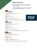 Estados Miembros de La UE